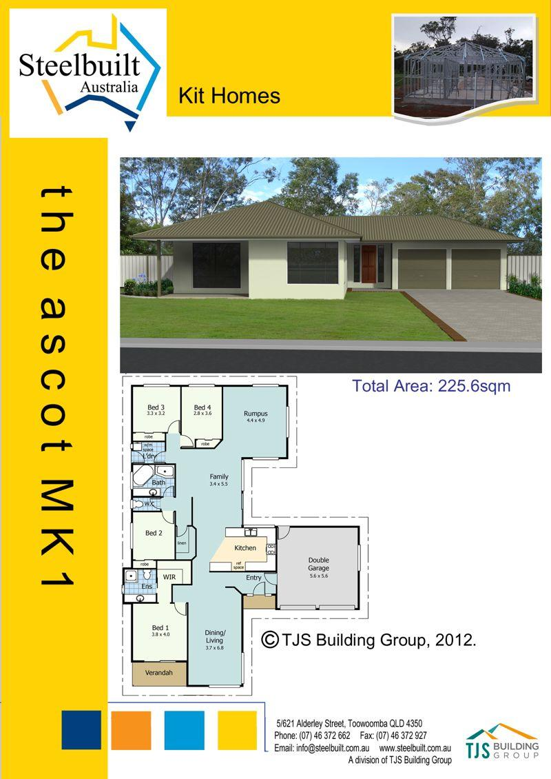 the ascot MK1 - 4 bedroom kit homes plans northern nsw