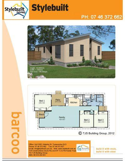 barcoo - 3 bedroom transportable home plans northern nsw western qld