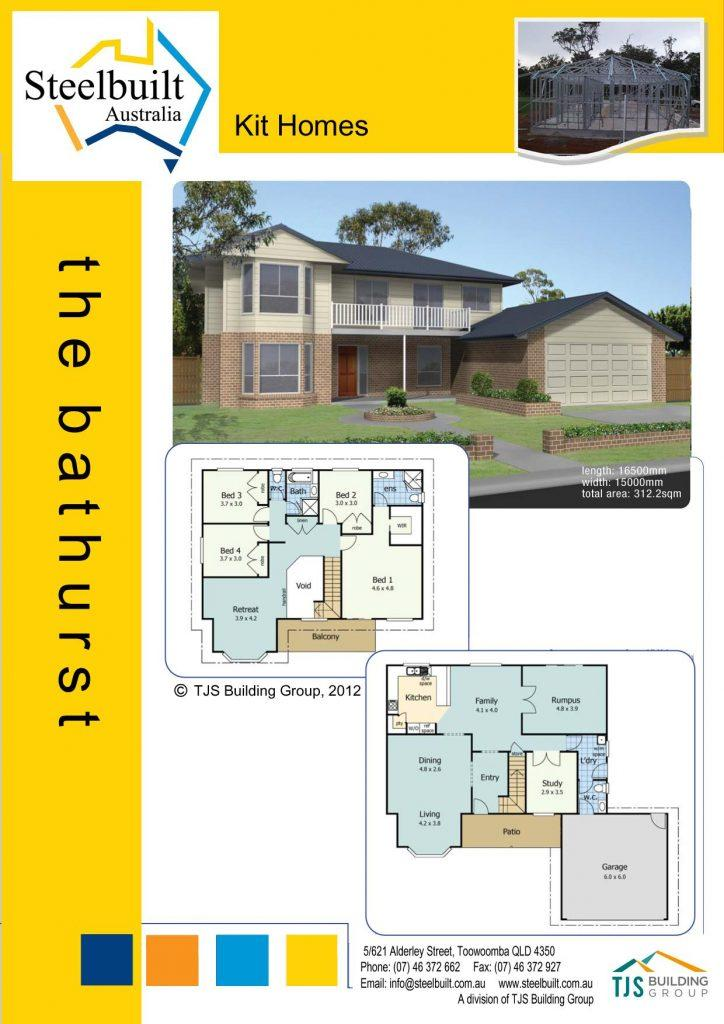 the bathurst - 4 bedroom kit homes plans western qld