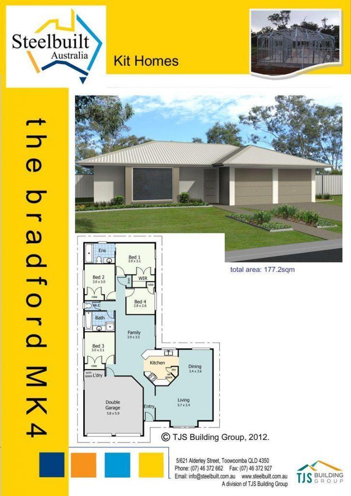 the bradford MK4 - 4 bedroom kit homes plans northern nsw