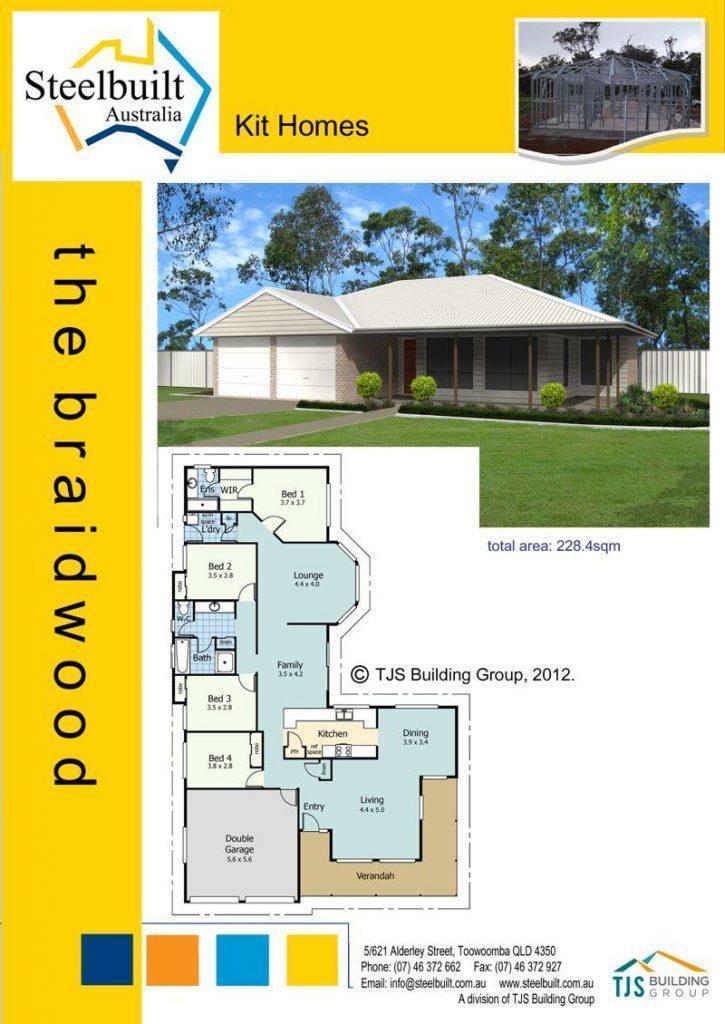 the braidwood - 4 bedroom kit homes plans western qld