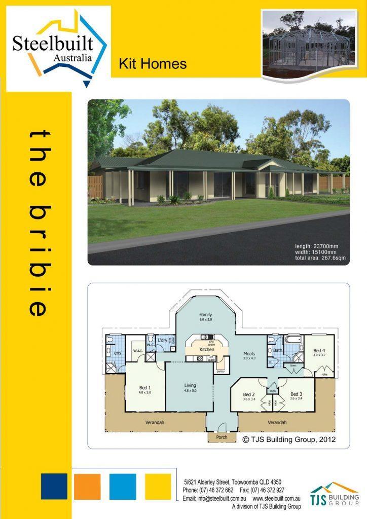 the bribie - 4 bedroom kit homes plans northern nsw