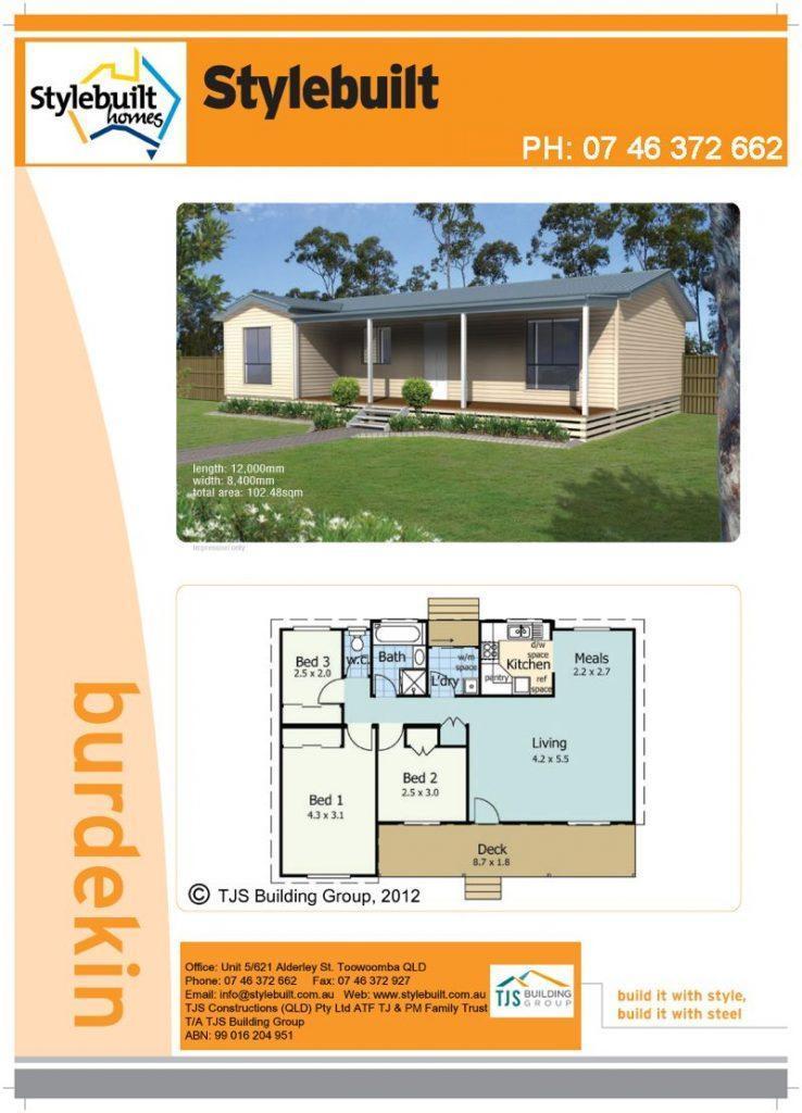 burdekin - 3 bedroom transportable home plans northern nsw western qld