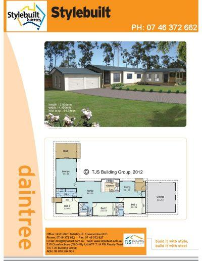 daintree - 3 bedroom transportable home plans northern nsw western qld