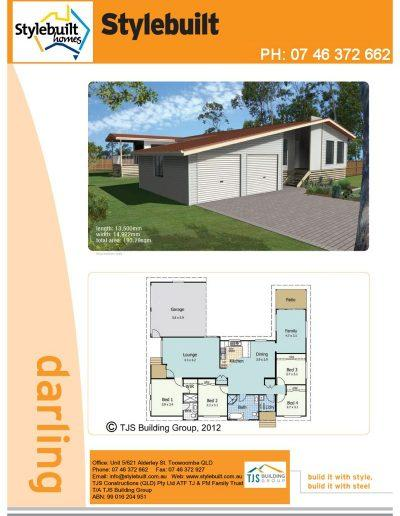 darling - 4 bedroom transportable home plans northern nsw western qld