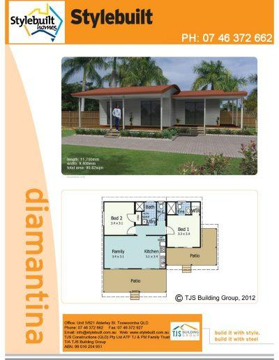 diamantina - 2 bedroom transportable home plans northern nsw western qld