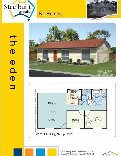 the eden - 2 bedroom kit homes plans western qld
