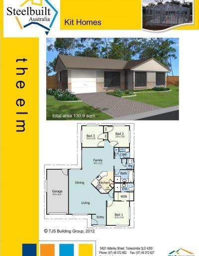 the elm - 3 bedroom kit homes plans western qld