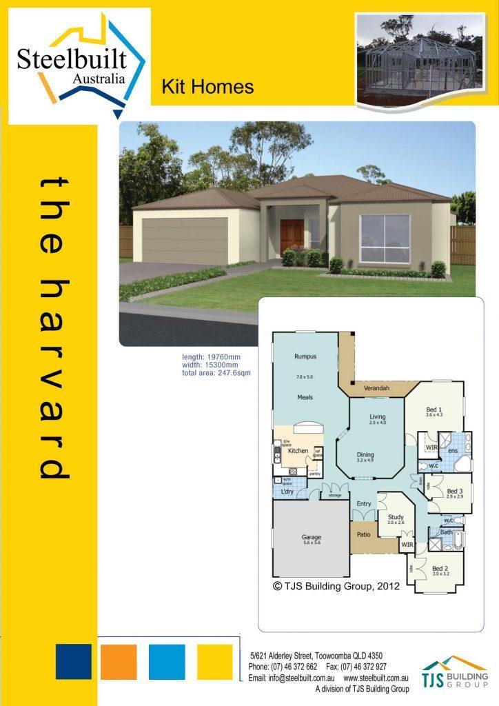 the harvard - 4 bedroom kit homes plans qld