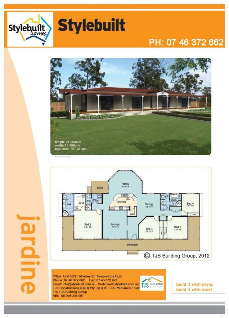jardine - 4 bedroom transportable home plans northern nsw western qld