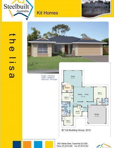 the lisa - 4 bedroom kit homes plans northern nsw