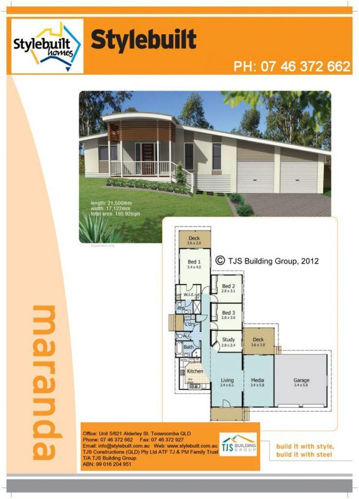 Maranda - 4 bedroom transportable home plans northern nsw western qld
