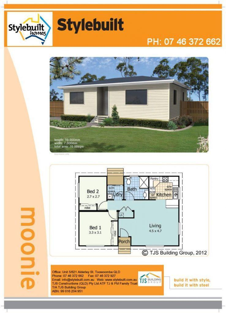 moonie - 2 bedroom transportable home plans northern nsw western qld
