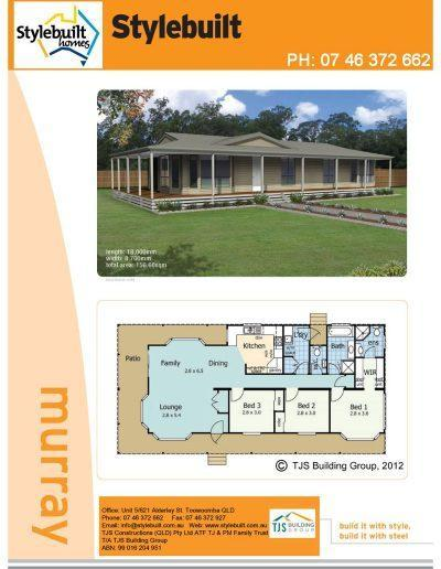 murray - 3 bedroom transportable home plans northern nsw western qld