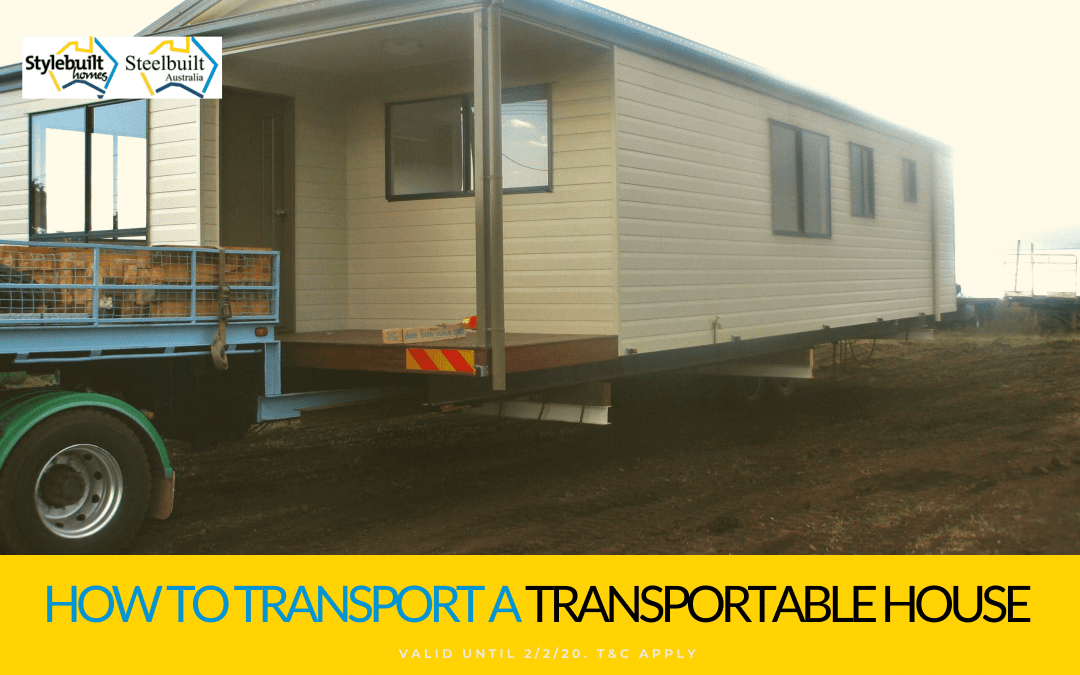 How to transport a transportable house